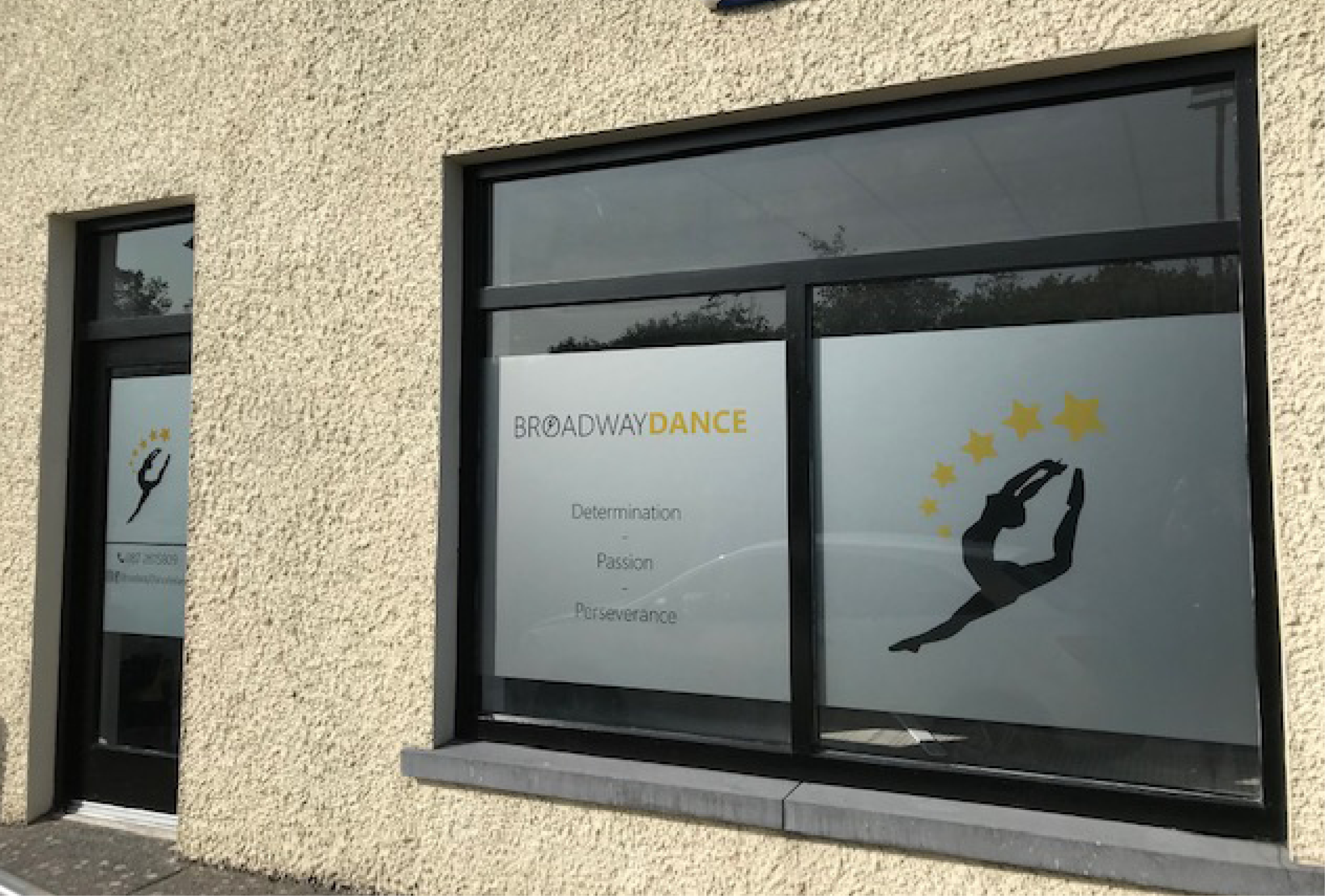 Broadway Dance Window Graphics