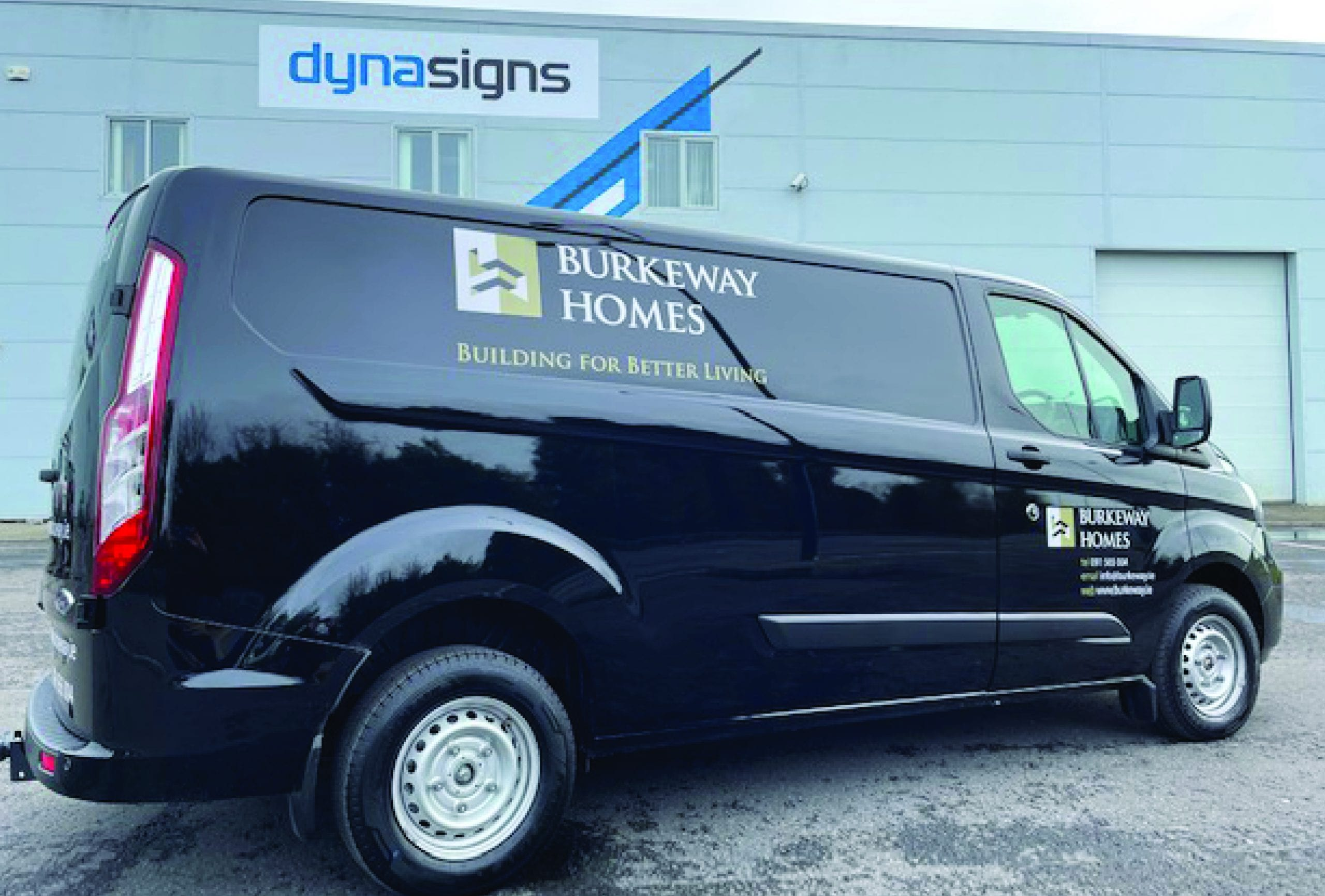 Vinyl graphics for Burkeway Homes