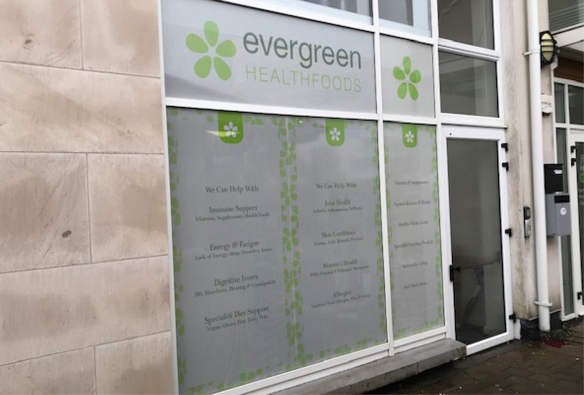 Evergreen Window Graphics