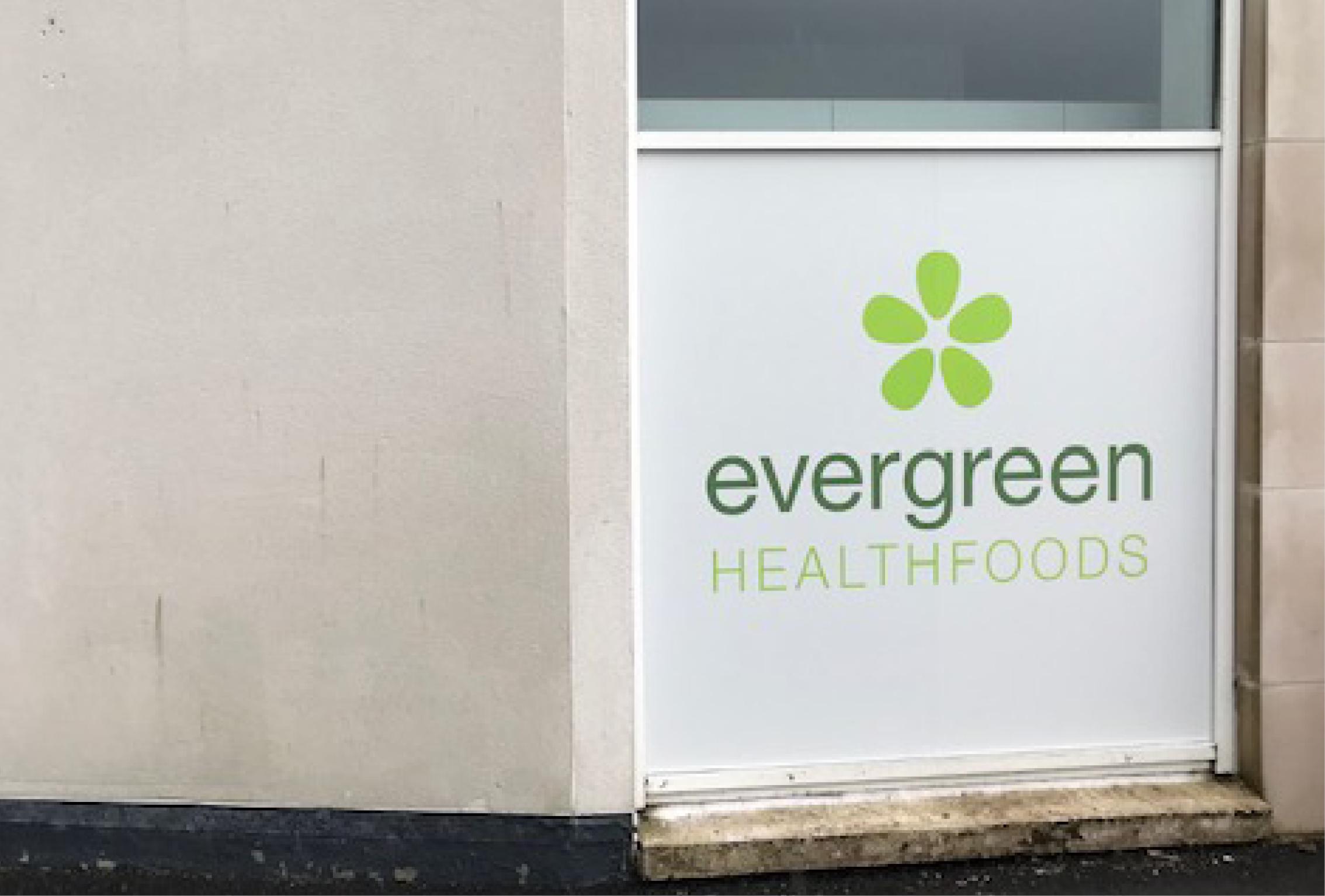Evergreen Window Graphic