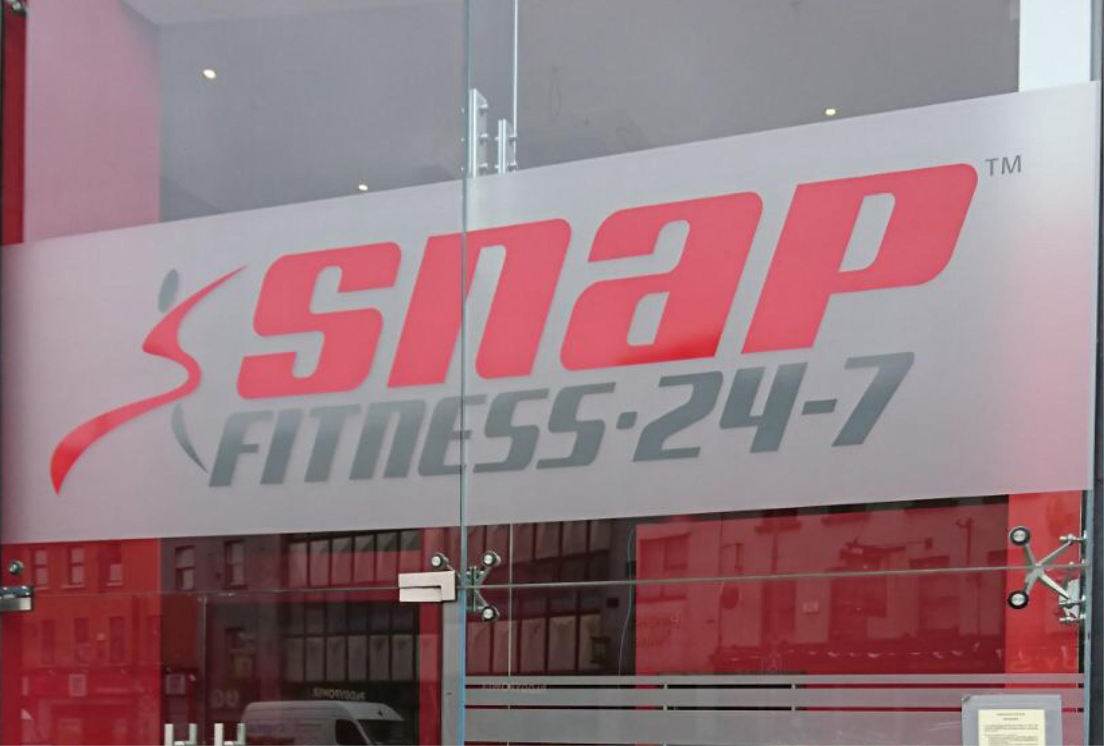 Snap Fitness Window Graphic