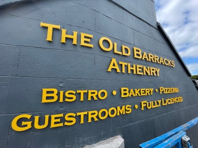 Raised Lettering for the Old Barracks, Athenry