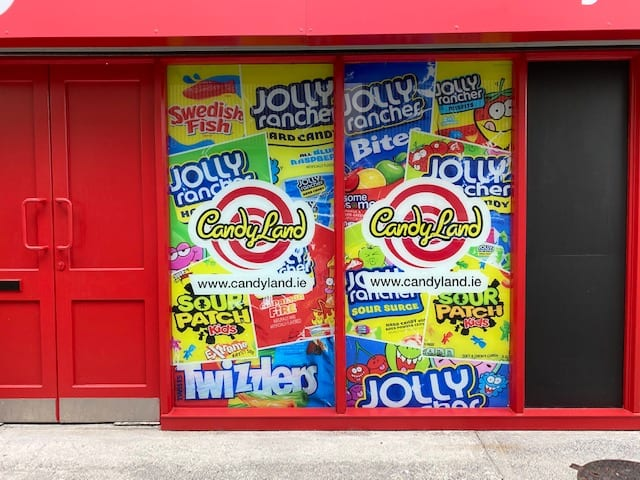 Window Graphics for Candyland Galway