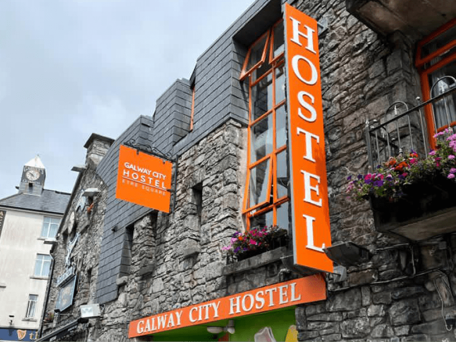 Galway City Hostel New Front Signs