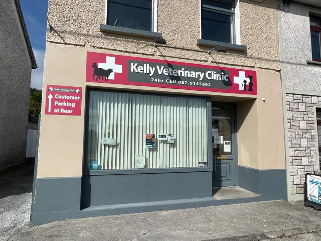 Shop Front Sign For Kelly Veterinary